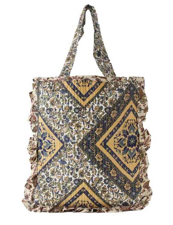 Paisleymönstrad väska av återvunna sari