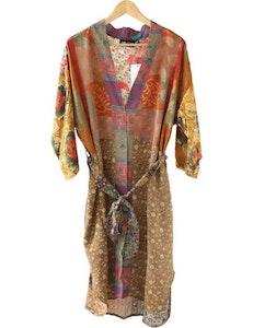 Kimono magnolia återvunna sari