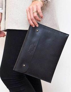 iPad kuvertväska naturgarvat läder