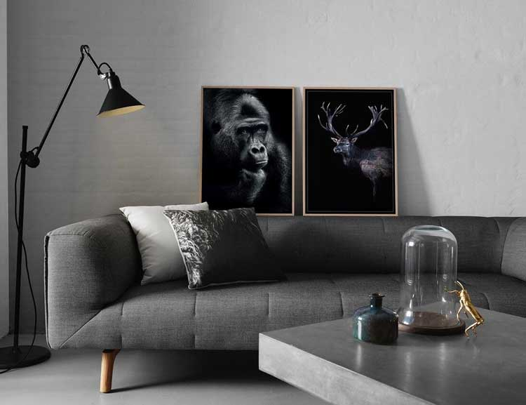 Poster Thinking gorilla, FSC papper