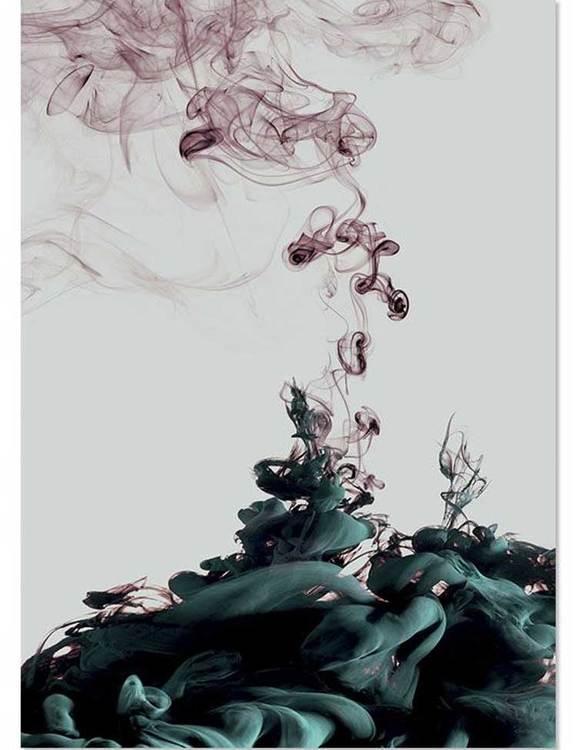 Fotokonst bläckmönster, tryckt på miljövänligt papper.