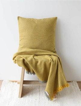 Kuddfodral återvunnen ull, gul