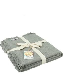 Pläd återvunnen ull, grå