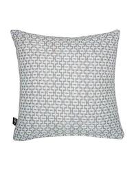Kuddfodral mönstrad grå, återvunnen textil
