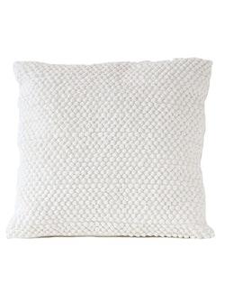 Kuddfodral återvunnen textil,vit