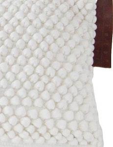 Avlångt kuddfodral återvunnen textil vit