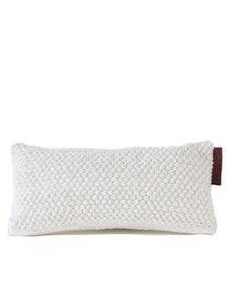 Avlångt kuddfodral återvunnen textil, vit