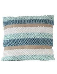 Kuddfodral återvunnen textil, blå