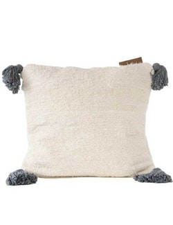Tofskudde återvunnen textil grå tofs