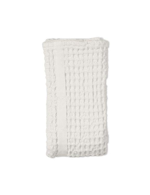Handduk våfflad ekologisk bomull vit