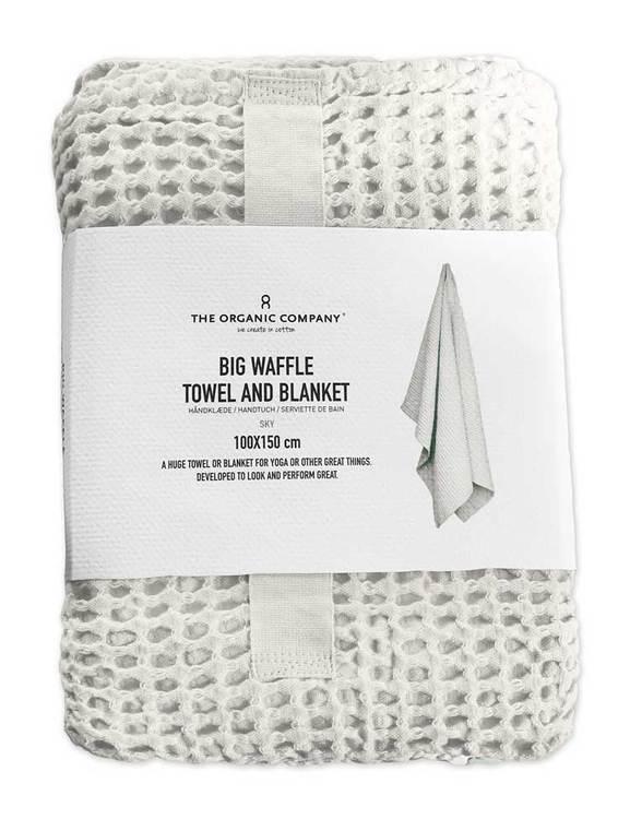 Dansk design, vit handduk våfflad ekologisk bomull.
