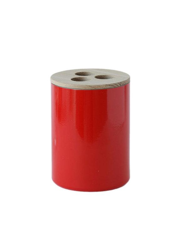 Tandborsthållare av brandsläckare röd
