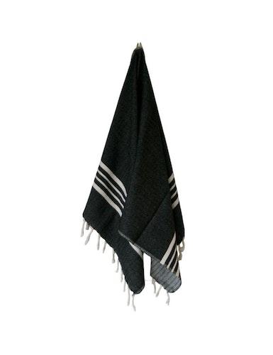 Hamamhandduk ekobomull, liten svart