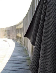 Badhandduk våfflad ekologisk bomull grå