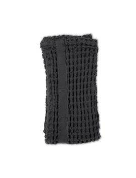 Handduk våfflad ekologisk bomull mörkgrå