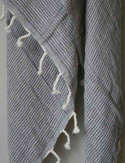 Hamamhandduk ekobomull, krinklad svart