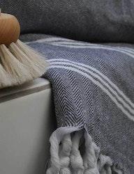 Hamamhandduk ekobomull, grå