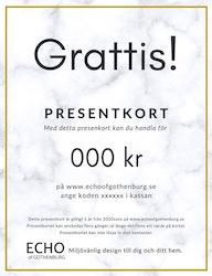 Presentkort Grattis
