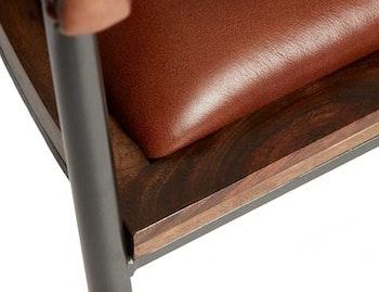 Karmstol naturgarvat läder, rosé brown