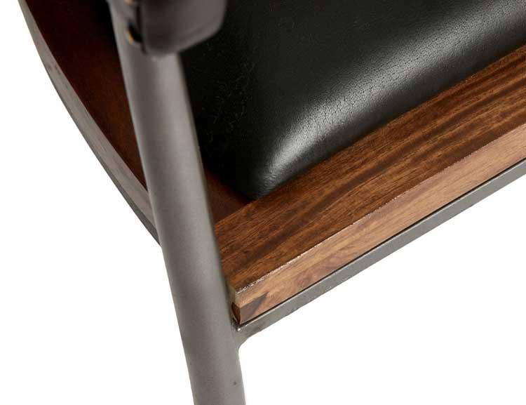 Fuhr Home matsalsstol, naturgarvat läder.