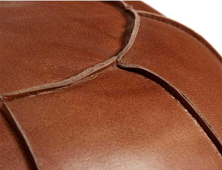 Sittpuff naturgarvat läder, brun
