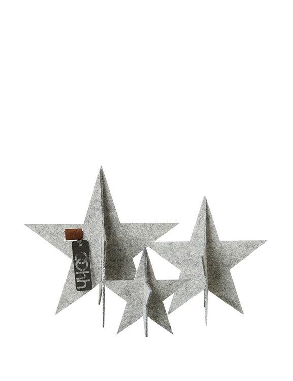 Bordsdekoration julstjärnor återvunnen plast