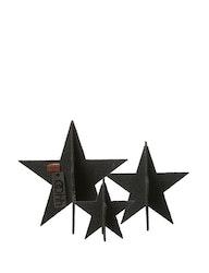 Bordsdekoration stjärnor 3-pack, återvunnen plast