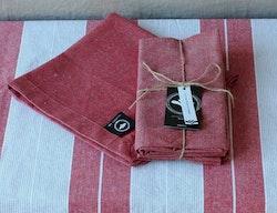 Röda servetter 2-pack, återvunnen textil