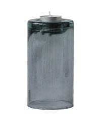 Värmeljushållare L mauve, återvunnet glas