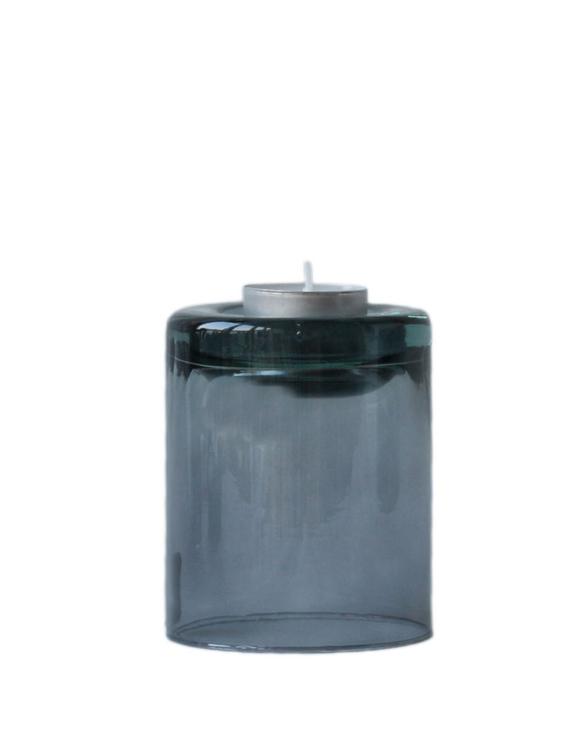 Värmeljushållare av återvunnet glas