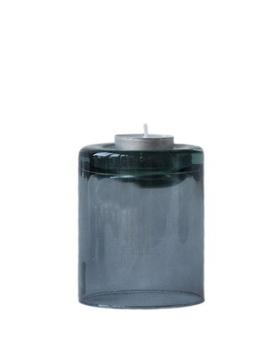 Värmeljushållare S mauve, återvunnet glas