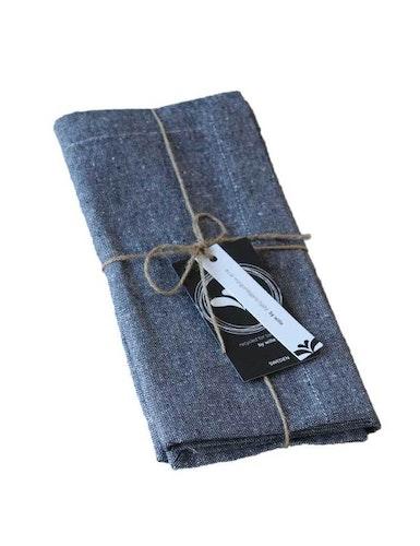 Servetter denim i 2-pack av återvunnen textil