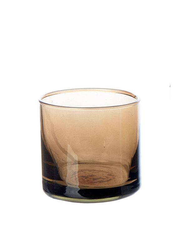 Värmeljushållare eller skål av återvunnet glas