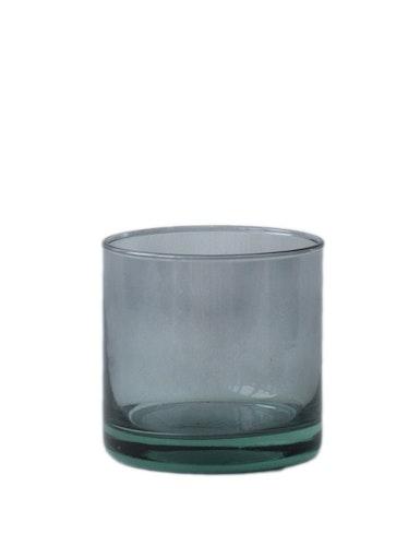 Ljuslykta | skål återvunnet glas, mauve