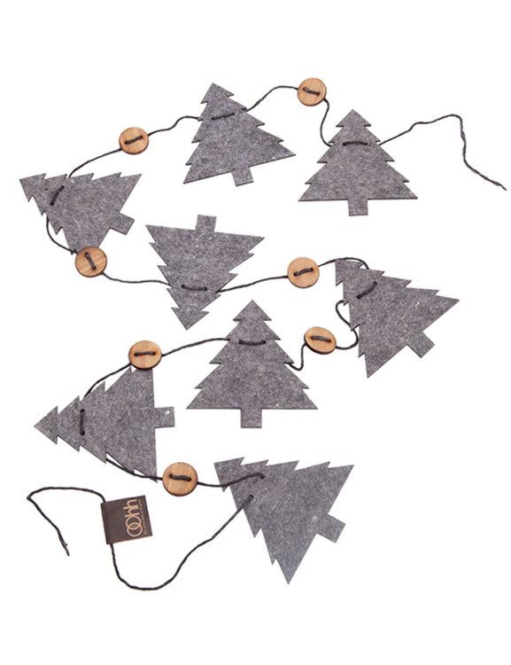 Julgirlang granar, återvunnet material