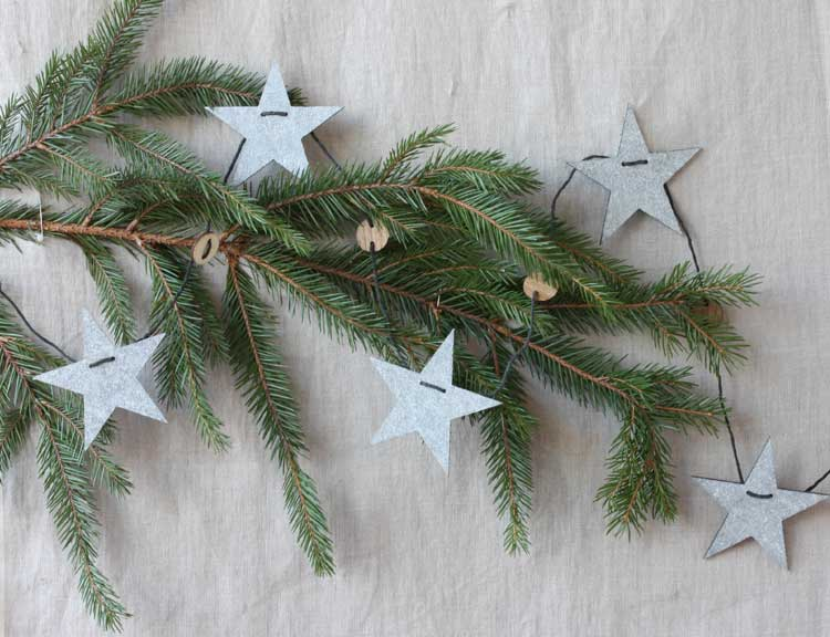 Julgirlang stjärnor, återvunnen plast