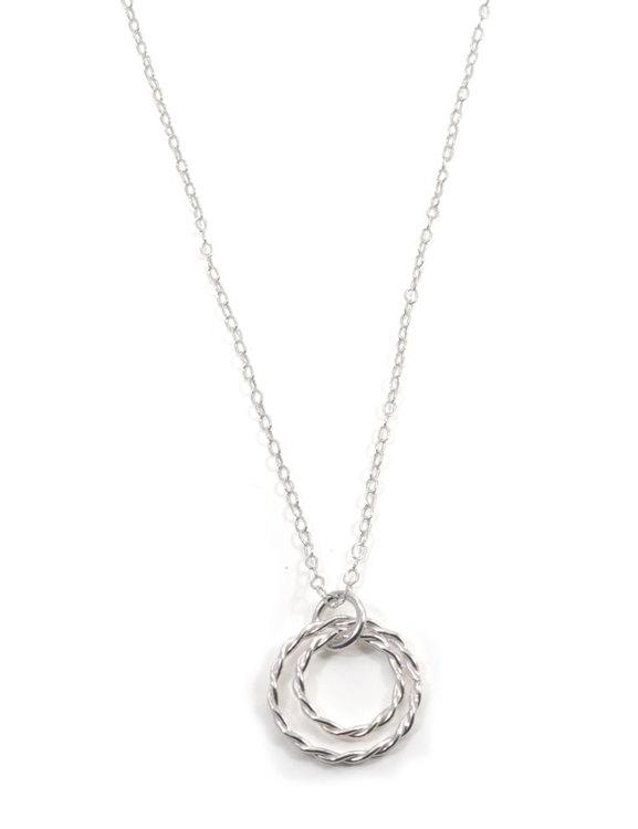 Halsband återvunnet silver Tvinnad