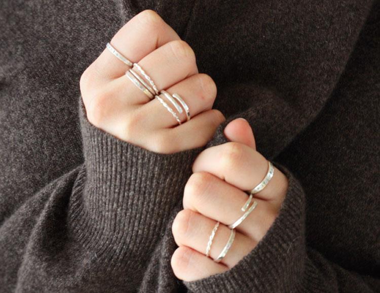 Ringar återvunnet silver