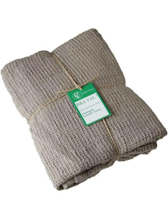 Badhandduk linne och ekologisk bomull wasa eco