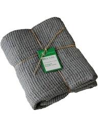 Badhandduk linne och ekologisk bomull blågrå
