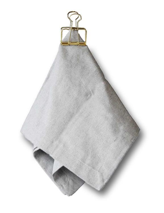 Två pack servetter ljusgrå, återvunna textilier