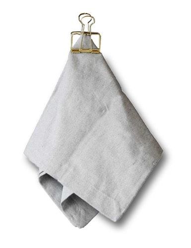 Servetter ljusgrå i 2-pack av återvunnen textil
