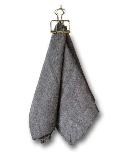Servetter bruna i 2-pack av återvunnen textil
