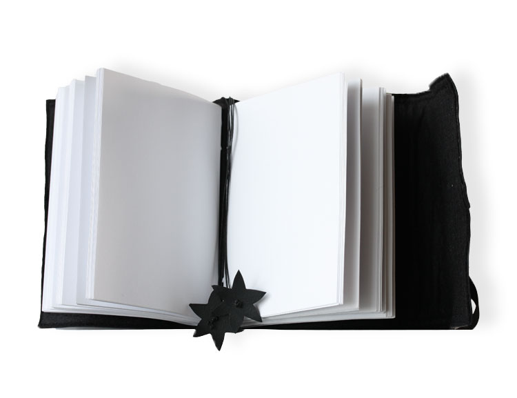 Liten anteckningsbok svart, återvunnet gummi