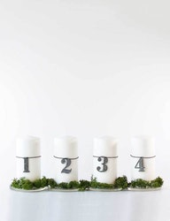 Adventsiffror till blockljus, återvunnen plast
