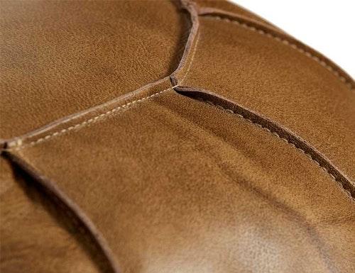 Sittpuff naturgarvat läder, patina