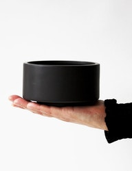 Keramikskål två storlekar, svart