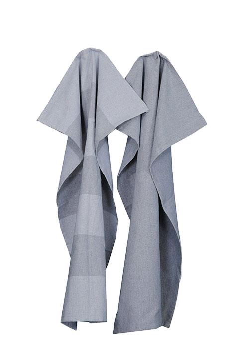 Handduksset silver/grå. Återvunna textilier.
