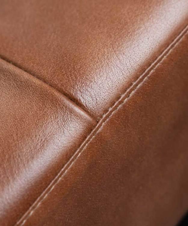 Dagbädd brunt naturgarvat läder, Fuhr Home.