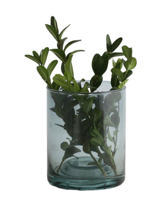 Ljushållare eller skål, återvunnet glas